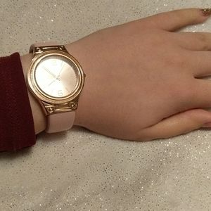 Pink fashionable watch. Buy in bundles for cheap